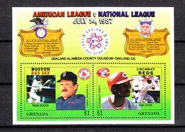 Grenada   - 1987.  Assi Battitori Americani. American Batting Champions. MNH - Baseball