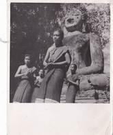 5 Photos  Années 50 , Angkor Bayon Bouddha .par Bureau Presse Info  Haut Commissariat France Indochine : - Places