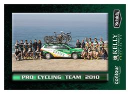 CARTE CYCLISME GROUPE TEAM KELLY CONTOUR 2010 - Cyclisme