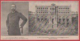 Le Prince Albert Ier De Monaco, élu Associé étranger De L'académie Des Sciences De Paris. Musée Océanographique. 1909. - Vieux Papiers