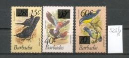 BARBADOS - 536/8  Aufdr.Provisorien  Kpl.Aus.postfr - Barbados (1966-...)
