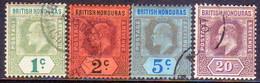 British Honduras 1902-04 SG #80-83 Compl.set Used  Wmk Crown CA CV £42 - British Honduras (...-1970)