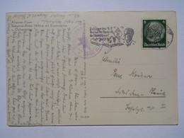 1936 DR Postkarte Pmk Zeltlager Der HJ, Kemptner-Hütte, Allgäu - Briefe U. Dokumente