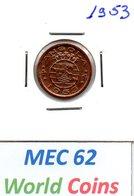 """MEC 62"" - COLONIA ANGOLA PORTUGUESA 50 CENTAVOS 1953 - Angola"