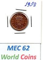 """MEC 62"" - COLONIA ANGOLA PORTUGUESA 50 CENTAVOS 1958 - Angola"