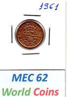"""MEC 62"" - COLONIA ANGOLA PORTUGUESA 50 CENTAVOS 1961 - Angola"