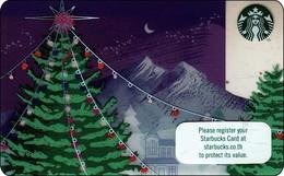 Thailand Starbucks Card  Christmas Tree 2017 - 6141 - Gift Cards