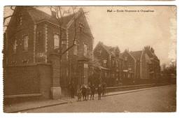 Halle - Hal - Ecole Moyenne Et Orphelinat - Circulée En 1940 - Edit. Desaix - 2 Scans - Halle