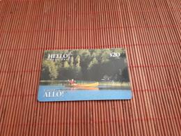 CANADA -Hello  Prepaid Card $20 Date 02/97 Used Rare - Canada