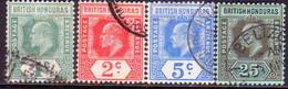 British Honduras 1908 SG #95-100 Compl.set Used Wmk Mult.Crown CA CV £48 - British Honduras (...-1970)