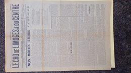 87- L' ECHO DE LIMOGES & DU CENTRE-N° 34- 1926- CATHEDRALE EDOUARD MICHAUD-REVERENDE MERE DALESME DE SALVANET - Giornali