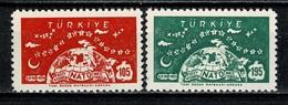 Turkiye 1959  Yv 1423/24**,  Mi 1621/22**,  MNH - Neufs