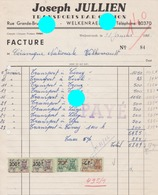 WELKENRAEDT 1956 JOSEPH JULLIEN   Transports - Printing & Stationeries