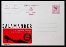 BELGIQUE ENTIER CP PUBLIBEL N° 2057 . SALAMANDER   . NEUF - Stamped Stationery