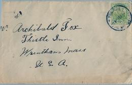 1924 BERMUDA , SOBRE CIRCULADO , UN LATERAL CORTADO , YV. 77 , GALEÓN 2 1/2 D. - Bermudas