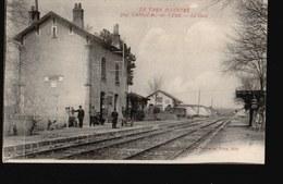 CPA246.....CAHUZAC SUR VERE...LA GARE - France