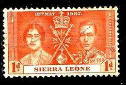SIERRA LEONE 155° 1p Orange Couronnement De George VI (10% De La Cote + 0,15) - Sierra Leone (...-1960)