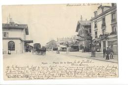 23161 - Nyon Place De La Gare Calèche1901 - VD Vaud