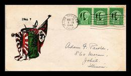 1944 USA Cover WWII Croix Gammée Svastika Capitulation Défaite ? Allemagne Reich Nazie Empire Du Japon Poubelle Dust - WW2