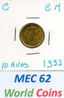 MEC 62 - COLONIA MACAU PORTUGUES  10 AVOS 1993 - C-CM - Macau