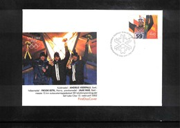 Estonia 2002 Olympic Games Salt Lake City Interesting Cover - Winter 2002: Salt Lake City
