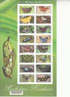2016 Brazil Brasil Butterflies Papillons Complete Set Of 2  Miniature Sheets MNH - Butterflies
