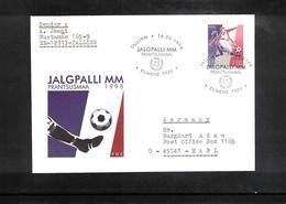 Estonia 1998 World Cup France Interesting Cover - 1998 – Francia