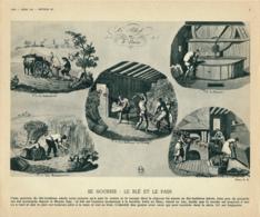 Photo, Métiers, Techniques Et Civilisation Au XIX° Siècle : Se Nourrir, Le Blé Et Le Pain, Charrue, Moulin, Faucille... - Vieux Papiers