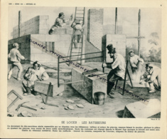 Photo, Métiers, Techniques Et Civilisation Au XIX° Siècle : Se Loger, Les Batisseurs, Tailleurs De Pierres, Maçons... - Non Classés
