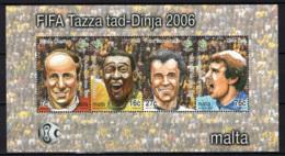 MALTA - 2006 - World Cup Soccer Championships, Germany - Souvenir Sheet - MNH - Malta