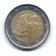 2  EURO -  Commemorativi  -  ITALIA  -  DANTE  ALIGHIERI   -  Anno 2015. - Italia