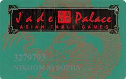 Tropicana Casino Atlantic City NJ - PRINTED Slot Card - Jade Palace Asian Table Games With WHITE Reverse - Casinokarten