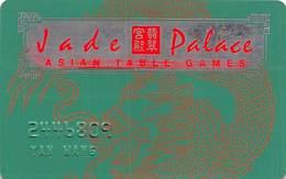 Tropicana Casino Atlantic City NJ - EMBOSSED Slot Card - Jade Palace Asian Table Games With WHITE Reverse - Casinokarten