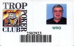 Tropicana Casino Atlantic City NJ Slot Card - Poker Club Card - Casinokarten