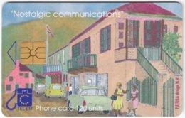 SINT MAARTEN A-049 Chip Tel-EM - Painting, Streetlife - Used - Antille (Olandesi)