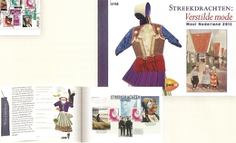 NEDERLAND, 2013, PRESTIGE BOOKLET, PR 46, Beautiful Nederland 2013, Regional Costumes - Postzegelboekjes En Roltandingzegels
