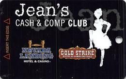 Gold Strike Casino Jean, NV - Slot Card - 3 Logos On Back - Red Logo Front (BLANK) - Casinokarten