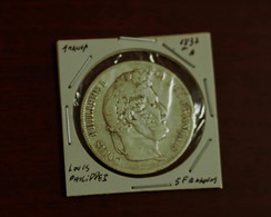 5 Francs 1837 A Argent/Silver - J. 5 Franchi