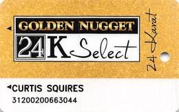 Golden Nugget Casinos Landry Corp. 24K Select Slot Card (no Mfg Mark But GN Logo With Locations) - Casinokarten