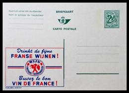 BELGIQUE ENTIER CP PUBLIBEL N° 2539 NF . FRANSE WIJNEN . BUVEZ LZ BON VIN DE FRANCE    . NEUF - Stamped Stationery