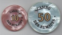 Casino Des Fumades : 10 Francs & 50 Francs (Percés) - Casino