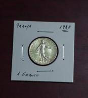 Monnaie, France, 1 Franc 1918, TTB, Silver - France