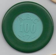 Jeton De Casino A.B.C. 100 Francs : Numéroté 17 - Casino