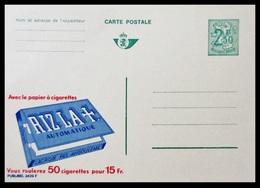BELGIQUE ENTIER CP PUBLIBEL N° 2429 F . RIZLA + . PAPIER A CIGARETTES  . NEUF - Stamped Stationery