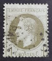 1863-1870, Emperor Napoléon Lll, 1c, Empire Française, France - 1863-1870 Napoleon III With Laurels