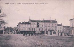 France 47, Nérac, Place De Normandie Café Marcadieu, Hôtel Des Postes, Route De Mézin + Censure (16.1.18) - Nerac