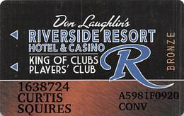 Riverside Casino - Laughlin NV -Slot Card With P759669-2 Over Mag Stripe - Casinokarten