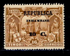 ! ! Inhambane - 1913 Vasco Gama On Timor 10 C - Af. 69 - MH - Inhambane