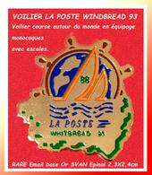 SUPER PIN'S POSTE -VOILE : RARE Pin's émis Pour La POSTE Lors De La WHITBREAD 93 Cours Autour Du MONDE 2,3X2,4cm - Correo