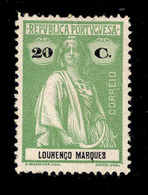 ! ! Lourenco Marques - 1914 Ceres 20 C - Af. 128 - MH - Lourenco Marques